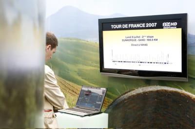 letour de france est retransmis en hd sur la tv d'orange