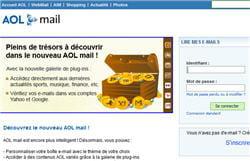 copie d'écran du webmail d'aol