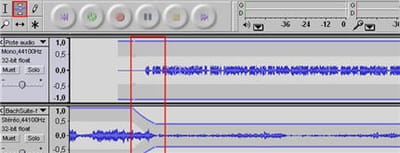 l'outil de mise à niveau permet de baisser la piste musique pour l'adapter à la