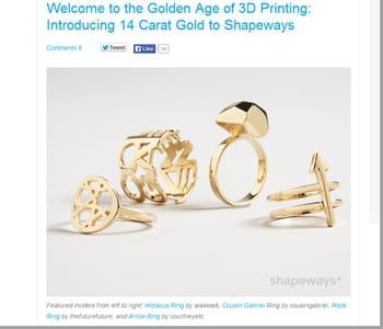 les créateurs peuvent proposer des bijoux en or personnalisés.