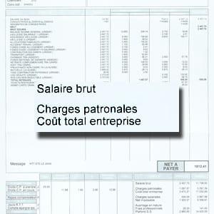 l'écart est important entre le coût total pour l'employeur et ce que le salarié