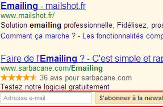 Que vaut l'outil de collecte d'emails de Google Adwords?