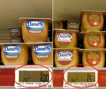 les nouveaux parfums lancés par danette sont vendus en pot de 115grammes.
