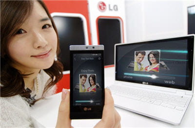 le lg mini gd880 entre de petites mains