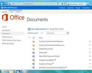 office sharepoint 2013 a été testé par la rédaction sur une tablette tactile