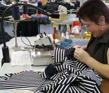 tricots saint james réalise 20% de son chiffre d'affaires à l'export.