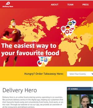 delivery hero livre des repas à domicile.