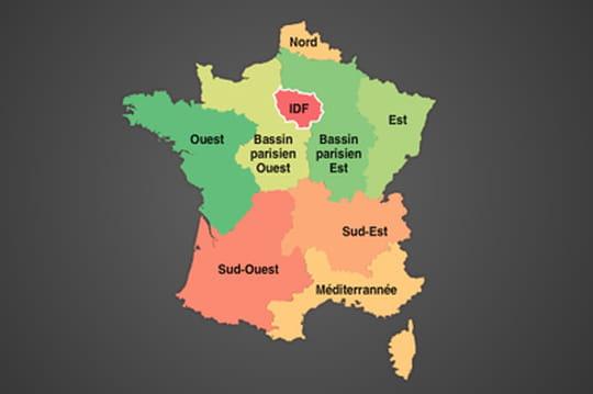 Infographie: Les régions les plus connectées en France