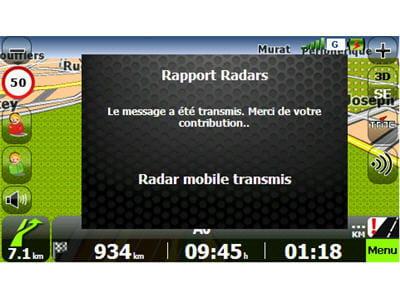 possibilité de signaler les radars
