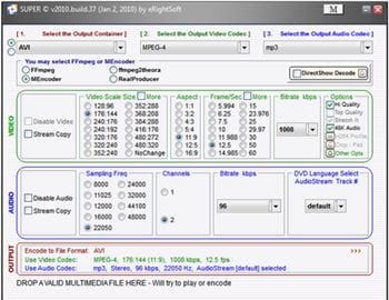 copie d'écran du logiciel