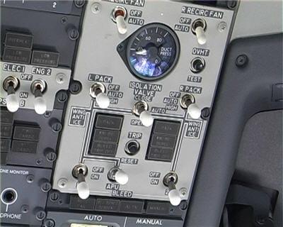 jauge de pression de la cabine
