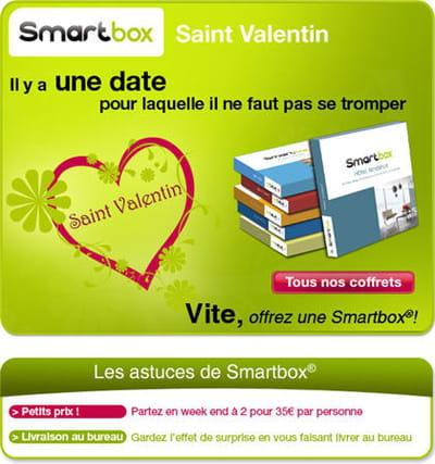 la campagne saint-valentin de smartbox
