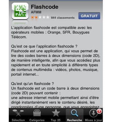 ecran de présentation de l'application