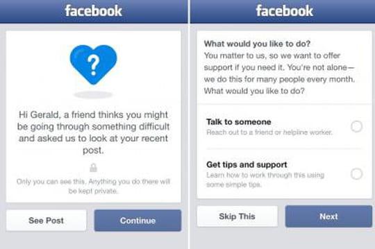 Facebook lance une fonctionnalité pour empêcher les suicides