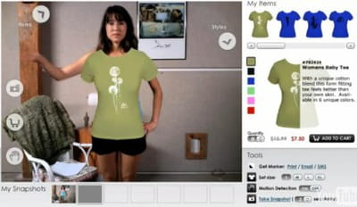 l'internaute change de t-shirt sur zugara.com