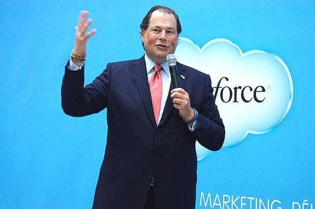 """Marc Benioff: """"Notre objectif est d'atteindre le milliard de dollars en France"""""""