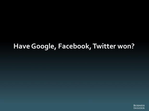 Est-ce que Google, Facebook et Twitter ont gagné?