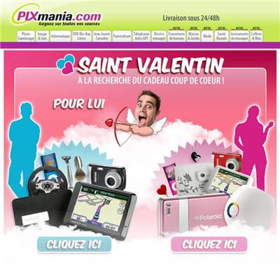 la campagne saint-valentin de pixmania