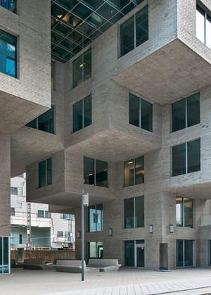 la banque norvégienne dnb a son siège social dans un immeuble façon lego.