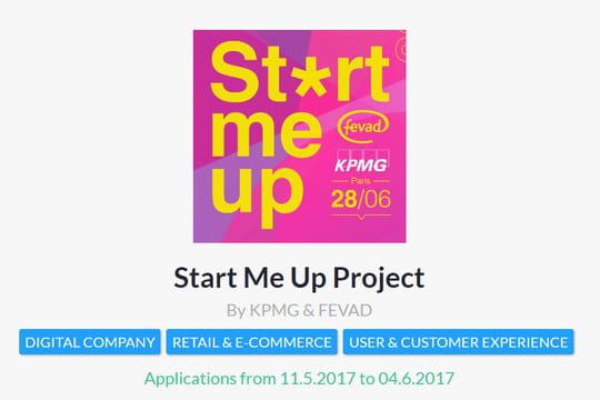 """Plus que quelques jours pour candidater au """"start me up: project"""""""