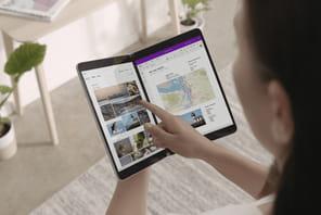 Windows10X: les double-écrans tactiles rabattables pas avant 2022?