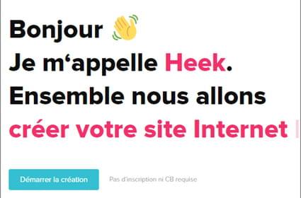 Nous avons testé Heek, le bot qui crée votre site web pour vous