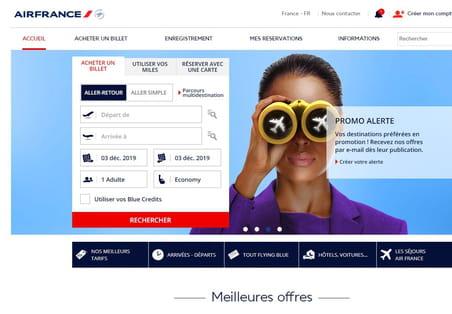 Atterrissages en hausse sur les landing pages d'Air France