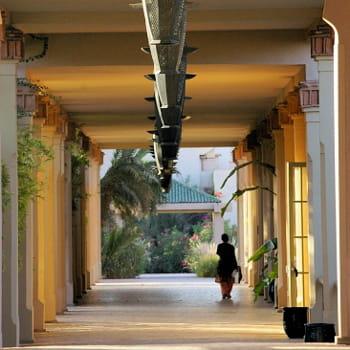 a l'intérieur du village club méditerranée de marrakech.