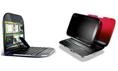a gauche, le skylight : netbook / smartphone géant et à droite, le u1 :