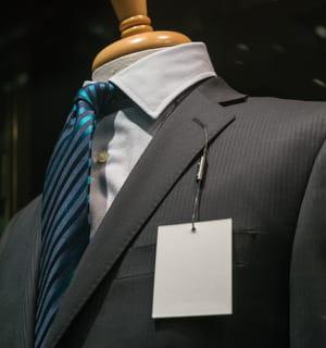 les costumes proposent un grand éventail de prix.