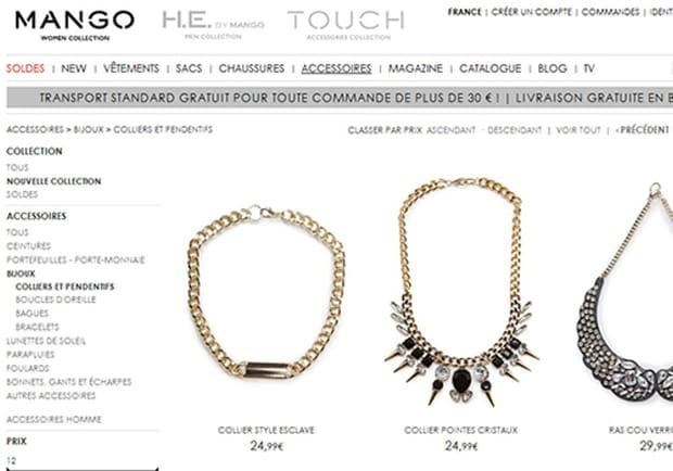 """Les bijoux """"style esclave"""" de Mango font polémique"""