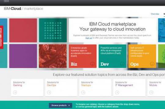 IBM regroupe ses offres cloud dans une nouvelle marketplace