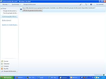 la gestion des groupes de discussion sur windows live mail