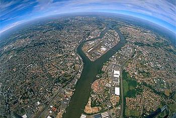 vue aérienne de la ville de nantes