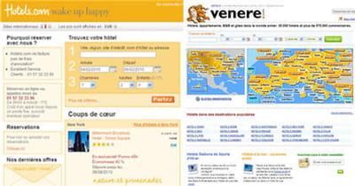 les sites de réservation d'hôtels du groupe américain expedia : hotels.com et