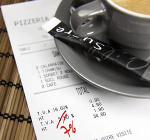 au restaurant aussi, la note devient plus salée.