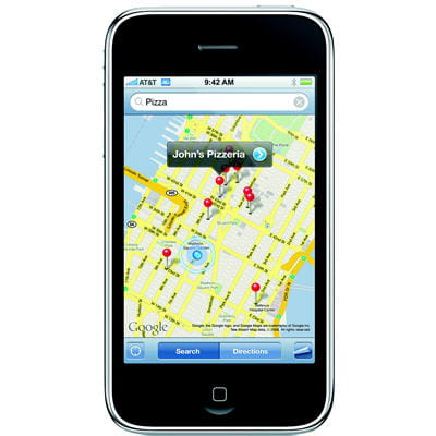 gps sur l'iphone 3g