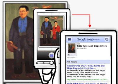 exemple de recherche visuelle avec google goggles
