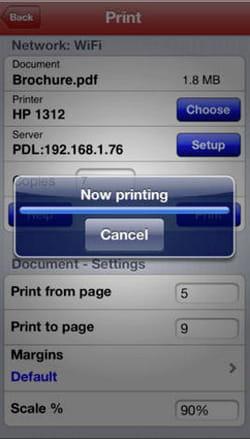 imprimenvoi permet d'imprimer tout document sur une imprimante wifi ou sans-fil.
