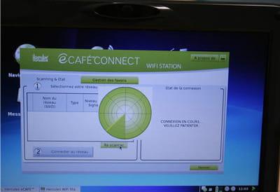 la très simple et pratique interface wi-fi de l'ecafé
