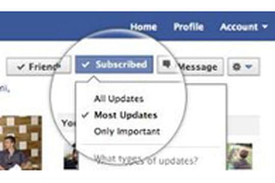 Facebook lance l'abonnement aux flux façon Twitter