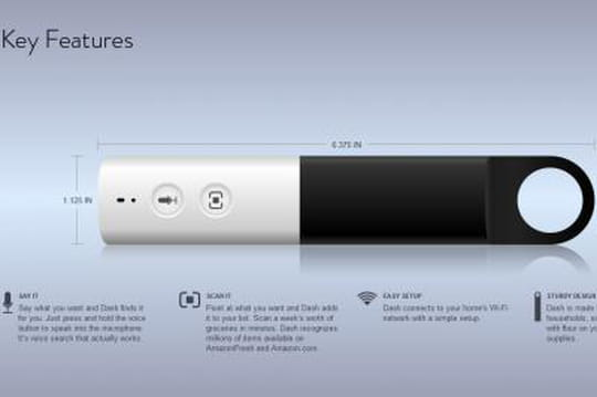 Amazon lance Dash, une télécommande wifi pour faire ses courses chez soi