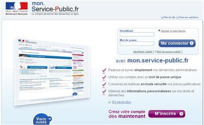 copie d'écran du site mon service public