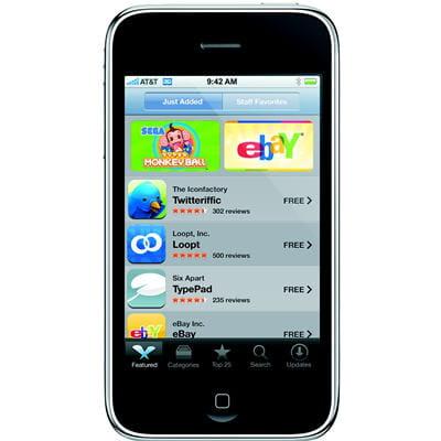 téléchargement de logiciels via la boutique en ligne apple