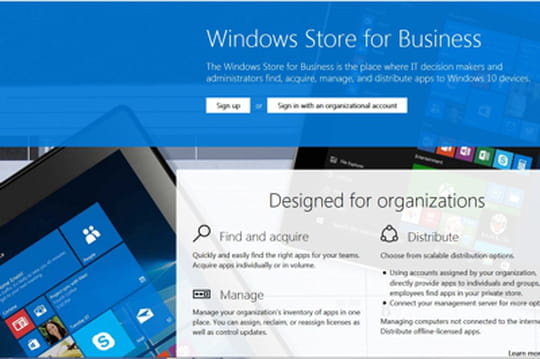 Microsoft lance son Windows Store d'entreprise
