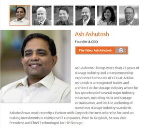 ash ashutosh est le pdg fondateur de actifio.