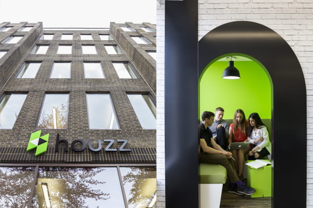Le nouveau siège européen de Houzz, à deux pas de St Pancras