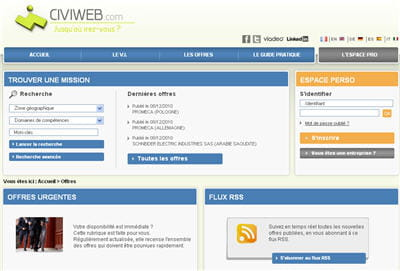 copie d'écran du site civiweb.com