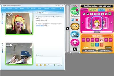 equipez-vous d'une webcam et vous pourrez jouir de cette application amusante !