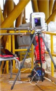 les scanner laser sont positionnés sur les objets à mesurer.